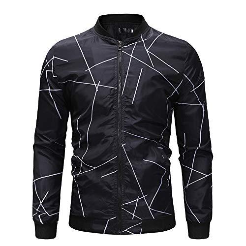 excellent.c Men's Full Zipper Jacket Casual Outdoor Sportswear Print Jacket(style3 X-Large)