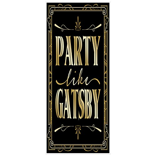 Musykrafties Roaring 20's Theme Party like Gatsby Door Cover 72x30