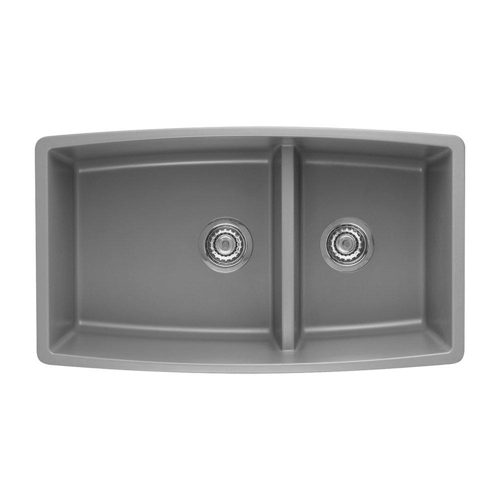 Blanco 441309 is an undermount 70 30 double bowl sink its design is attractive and made of stainless steel