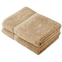 Pinzon by Amazon – Juego de toallas de algodón egipcio (2 toallas de baño), color beige