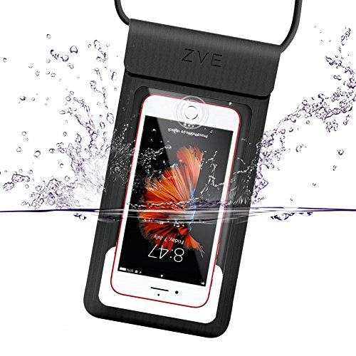 Universal Waterproof Case, ZVEproof CellPhone Dry Bag Pouch for iPhone X iPhone 8 plus iPhone 7 plus 6 6S Plus SE 5S Samsung Galaxy S8+ S8 S7 Note 5 4 HTC LG Sony BlackBerry up to 6.0' - Rose Gold