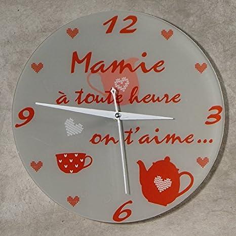 HeMy - Reloj «Je taime Mamie», regalo original para el ...