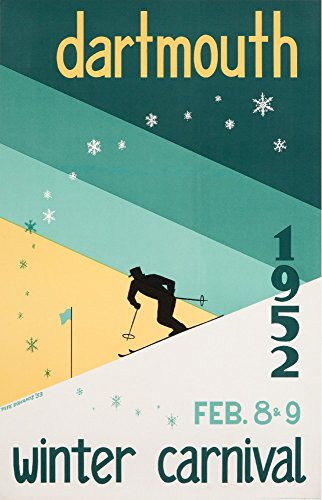(USA - Dartmouth Winter Carnival 1952 - (artist: Dohanos) - Vintage Advertisement (12x18 Art Print, Wall Decor Travel Poster))