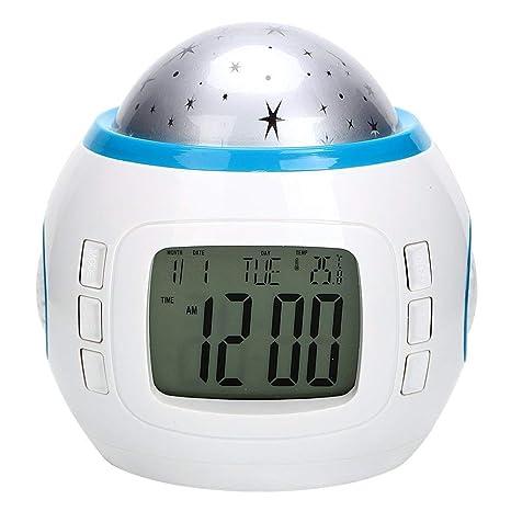dubens Reloj despertador digital LED Wake-Up Luz Luz de día Reloj despertador para adultos