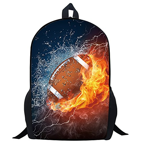 (Football Backpack Combustion Pattern School Bookbags for Kids …)