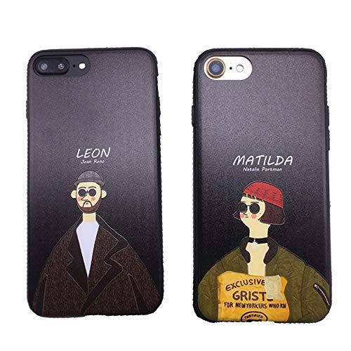 慎重蓮とにかく【Emikal】iPhoneXs レオン マチルダ シック ブラック オトナ iPhoneケース iPhone6/7/8/7plus/8plus スマホケース (iPhone7/8, MATILDA)
