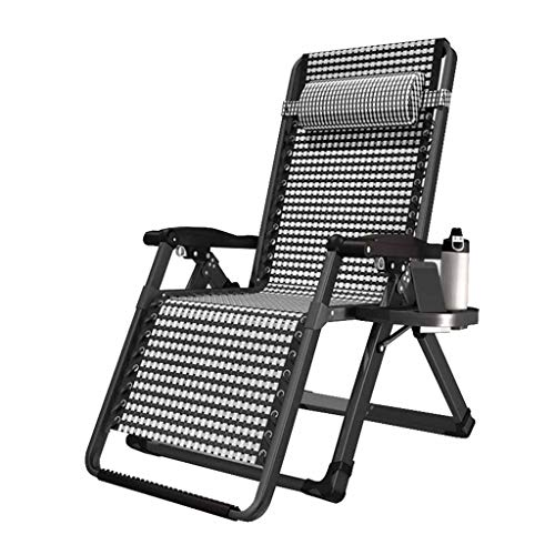 (Folding Recliner Chair Relaxing Chair Zero Gravity Deck Chairs Sunloungers Household Lunch Break Garden Textilene)