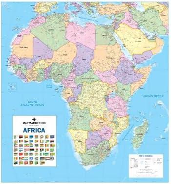 Cartina Dell Africa Fisica E Politica.Mappa Parete Politica Laminata Africa Amazon It Cancelleria E Prodotti Per Ufficio