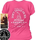 Sons of Libery Don't Tread on Me. Liberty or Death. Wom Pink/SM T-Shirt