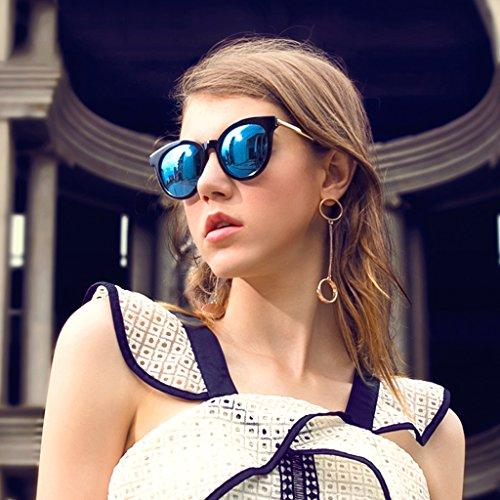 Lady polarisée Champagne rétro soleil lunettes de mode rwq7HrFzx