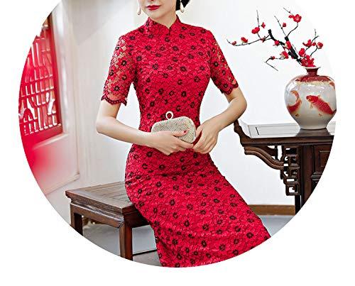 先見の明好き天井チャイナドレスレトロなカラースタイルのドレス,8618,ザ?