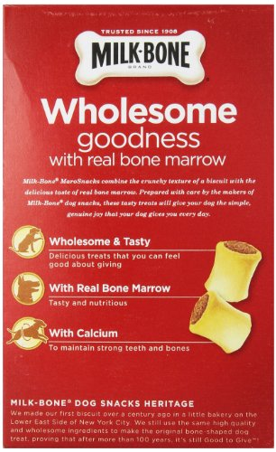 Milk-Bone MaroSnacks Dog Treats for Small Dogs, 15-Ounce Pack of 6