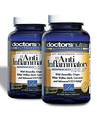 Natural Anti-Inflammatory Advanced EXL9 Pain Relief Supplement (Pack of 2)
