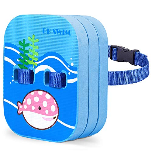 BBSWIM Back Float for Kids Children Safety Swim Belt Bubble with Adjustable Premium Layers Swim Belts Comfortable Waterproof Floaties Device for Kids Toddler Swimming Floats (Under 60 lb)