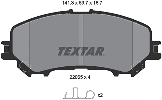 2563201 Genuine OE Textar Front Disc Brake Pads Set