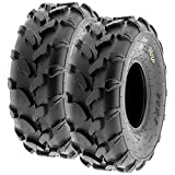 SunF A003 ATV/UTV/Lawn-Mowers Off-Road Tire 18x7-8, 6 PR, Directional Tread (Pair of 2)