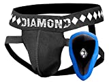 Athletic Cup Groin Protector & Four-Strap No Shift Jock Strap System for Sports