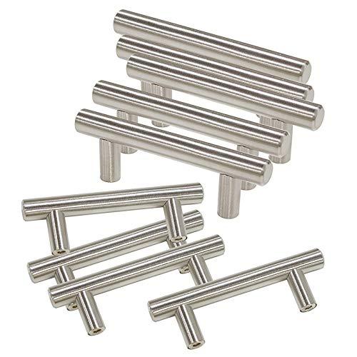 30 Pack Cabinet Pulls Brushed Nickel Cabinet Door Knobs 2-1/2
