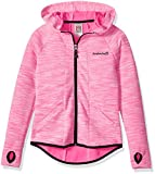 Avalanche Big Girls' Hooded Full Zip Jacket, Azura Pink, 10/12