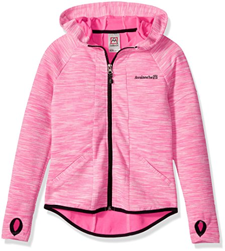 Avalanche Big Girls' Hooded Full Zip Jacket, Azura Pink, 10/12 by Avalanche