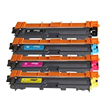 4 Pack TN221 TN-221 TN 221 BK/C/M/Y Toner Cartridge Compatible for Brother MFC 9130CW HL3140CW MFC9330CDW MFC9340CDW