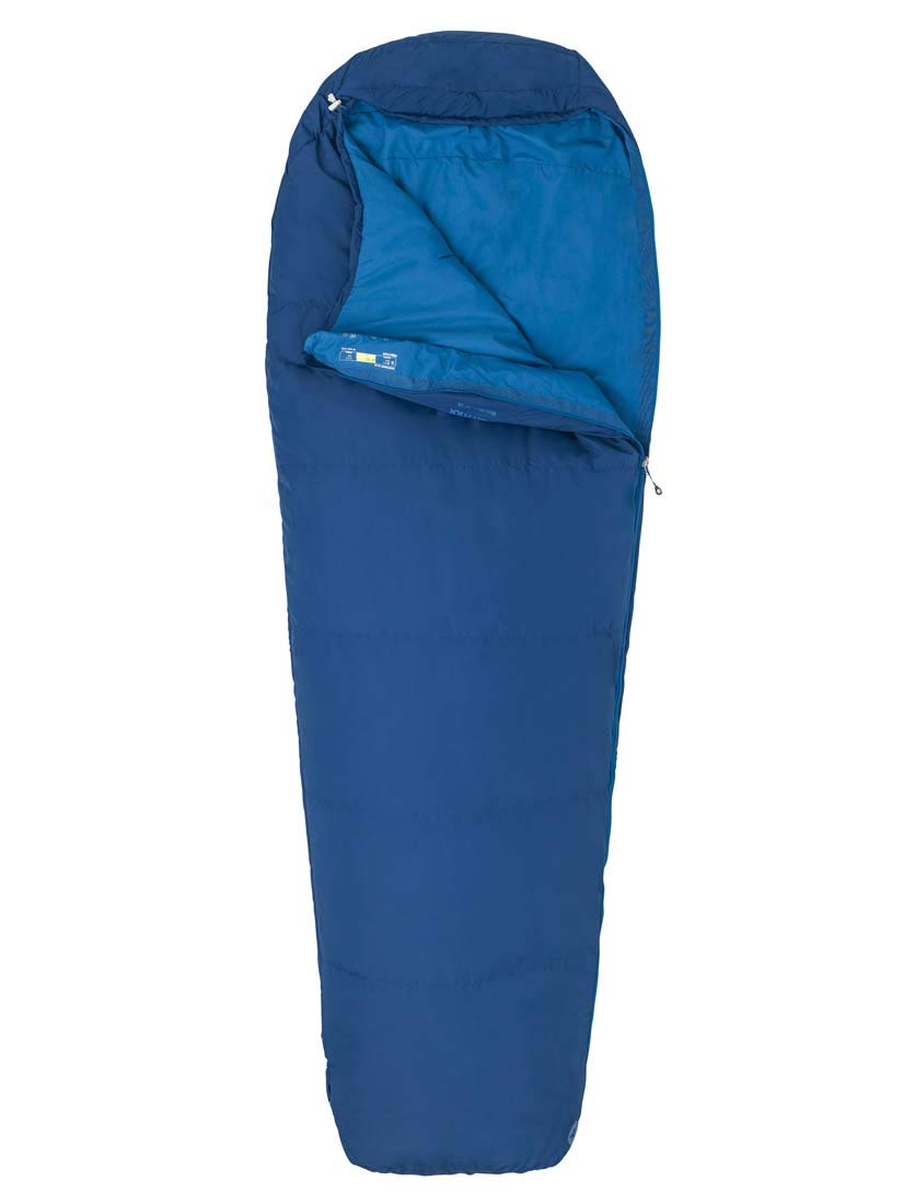 Marmot Unisexs Nanowave 50 Semi Rec Mummy Ideal for Camping and Trekking 183 cm Light Summer Sleeping Bag Estate Blue