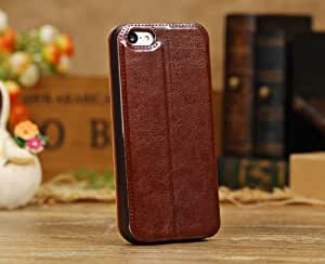 Free Shipping Generic Fashionable Brown Color Leather Flip Case Cover For Apple iPhone 5C Only A