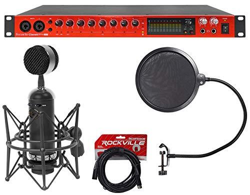 Focusrite Clarett 8Pre USB Recording Interface+Blue Microphone+Pop Filter+Cable ()