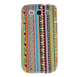 ZXM-Vertical Weaving Modelo del paño de algodón protector duro Volver Funda para el Samsung Galaxy S3 I9300