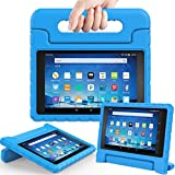 AVAWO Shock Proof Case for Fire HD 8 2017 Tablet - Kids Shockproof Convertible Handle Light Weight Protective Stand Case for Fire HD 8-inch (7th Generation, 2017 Release), Blue
