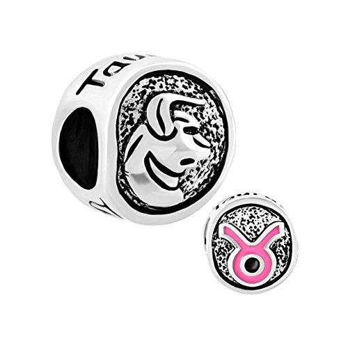 Zodiac Taurus Symbol Charm - 2