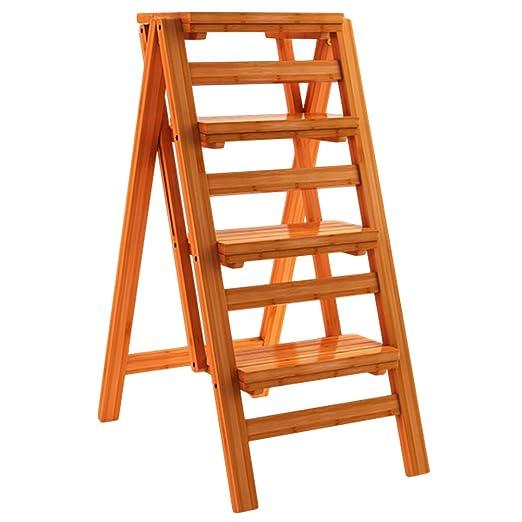 ZENGAI-escalera madera Multifuncional Escalera Plegable De Madera ...