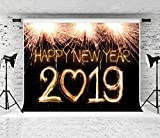 Kate 8x8ft 2019 Backdrop New Years Backdrops New Year Fireworks Photography Background Black Night Sky Backdrops Cotton