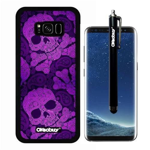 Galaxy S8 Plus Case, Purple Skull Pirate Camo Case, OkSoBuy Ultra Thin Soft Silicone Case for Samsung Galaxy S8 Plus - Purple Skull Pirate (Kings Sapphire Series)