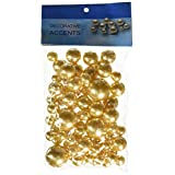 Firefly Imports Assorted Plastic Bead Pearls, 14mm/20mm/30mm, Gold, 84-Pack