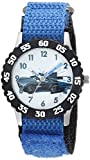DISNEY Boy's Cars 3' Quartz Stainless Steel and Nylon Casual Watch, Color:Blue (Model: WDS000465)