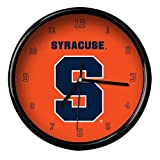 NCAA Syracuse University Official Black Rim Basic Clock, Multicolor, One Size