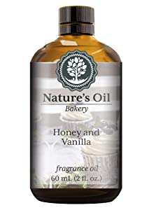 Honey and Vanilla Fragrance Oil (60ml) For Diffusers, Soap Making, Candles, Lotion, Home Scents, Linen Spray, Bath Bombs, Slime