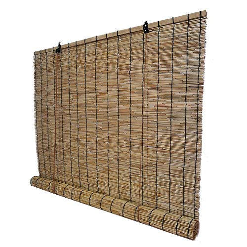 WENZHE Roll Up Window Roller Blind Bamboo Curtain Blinds Roll Type Outdoor Indoor Home  Lifting Screen, Size Customizable (Color : A, Size : 50x100cm)