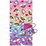 Best Rainbow Towel For Bath Beaches - 3C4G Unicorn Dreams 2 Piece Towel and Sling Review