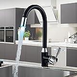 kitchen faucets sale - LED 3 Colors Light Black Swivel Kitchen Faucets Deck Mounted Single Hole Bathroom Faucets Mixer Tap