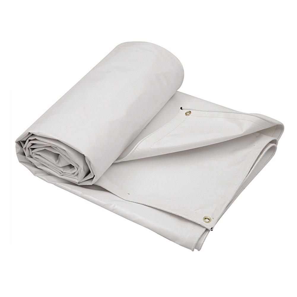 ターポリン 灰色PVCプラス厚い雨布防水日保護5種類のサイズは倉庫用に使用することができます建設工場工場と企業湾岸埠頭 (色 : 白, サイズ さいず : 4 x 4M) B07FQ99WXD 4 x 4M|白 白 4 x 4M