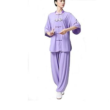 Mujer chino Kung Fu Tai Chi Uniforme Artes Marciales ropa ...
