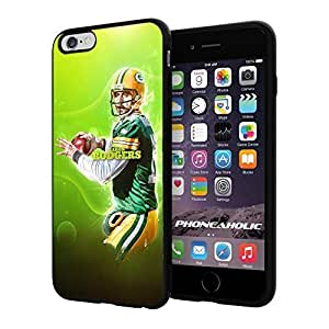 """NFL Green Bay Packers Aaron Rodgers, Cool iPhone 4/4s (6+ , 5.5"""") Smartphone Case Cover Collector iphone TPU Rubber Case Black"""