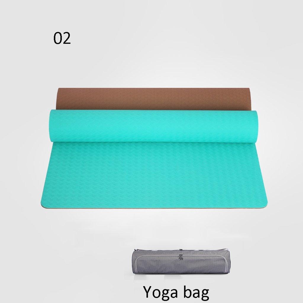 B EU8 Tapis de Yoga Couverture de Yoga Professionnelle Tapis Tapis d'exercice antidérapante Remise en Forme 8mm