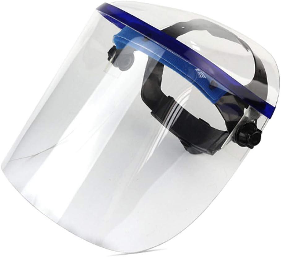 Protección Cara Completamente Cerrado Ajustable Plexiglás Transparente Protectora para La Cara Montado En La Cabeza del Visera del Protector De Soldadura, Aislamiento Anti-Salpicaduras De Saliva