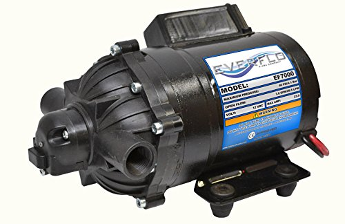 New 7.0 GPM 60 psi 12 Volt Diaphragm ON Demand WATER PUMP w/ Wire Power Harness by The ROP Shop