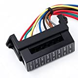 Docooler 8 Way DC32V Circuit Blade Fuse Box Fuse Block Fuse Holder ATC ATO 2-input 8-ouput Wire for Bus Ship Tanker Trailer Car Coat Auto