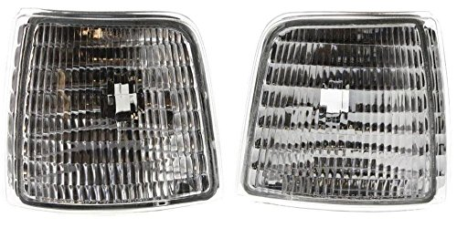 (DAT 92-97 FORD PICKUP 92-96 FORD BRONCO FRONT SIDE MARKER LIGHT ASSEMBLY CORNER OF FENDER SET OF TWO LEFT DRIVER AND RIGHT PASSENGER SIDE PAIR FO2550110 FO2551108)