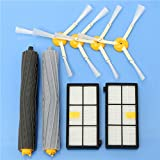 BephaMart 8pcs Vacuum Cleaner Accessories Kit Filters and Brushes for iRobot Roomba 800 900 Series